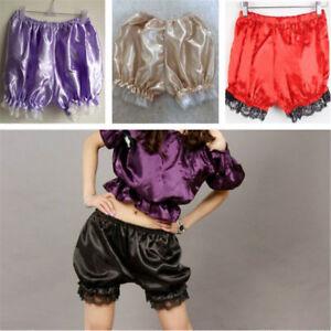 Satin-Knickers-Panties-Pumpkin-Bloomer-Shorts-Underwear-Underpants-Lace-Women