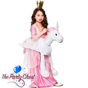 6368239283ea Image is loading CHILD-RIDE-ON-UNICORN-COSTUME-Fairytale-Girls-Fantasy-