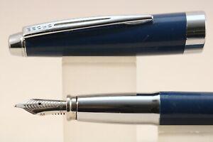 Cross-Aventura-Medium-Fountain-Pen-Starry-Blue-with-Chrome-Trim