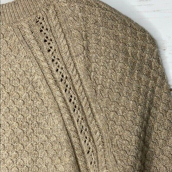 Loft Tan Sweater Textured Knit S - image 5