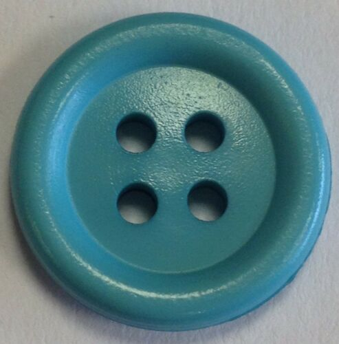 24 Ligne 15 mm satin finish coloured nylon buttons colours available pack of 6