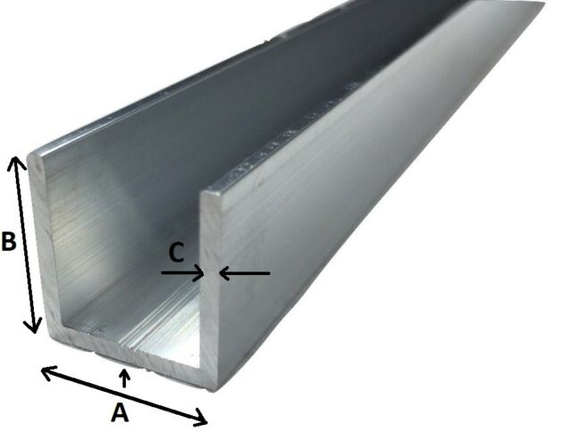 Alu U-Profil 50 x 30 x 50 x 3,0 mm Aluminium AlMgSi0,5 U-Stab Profil Aluprofil U-Stange 200 cm
