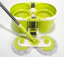 Home Hero Twin Spin Mop w/ Microfiber Pads & Easy Drain Bucket