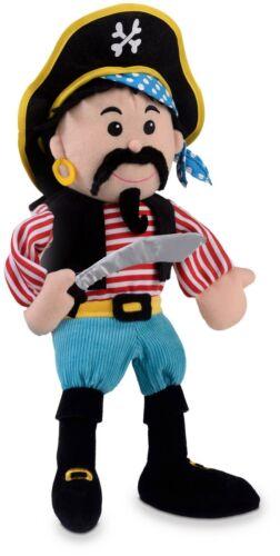 Fiesta Crafts rayures PIRATE Marionnette à Main Jouet Doux BN