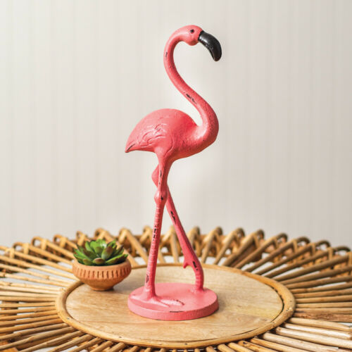 Cast Iron Flamingo Statue