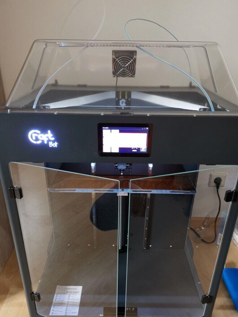 Craftbot Flow IDEX XL 3D Printer with Dual Extruder + Accessories! great Set!