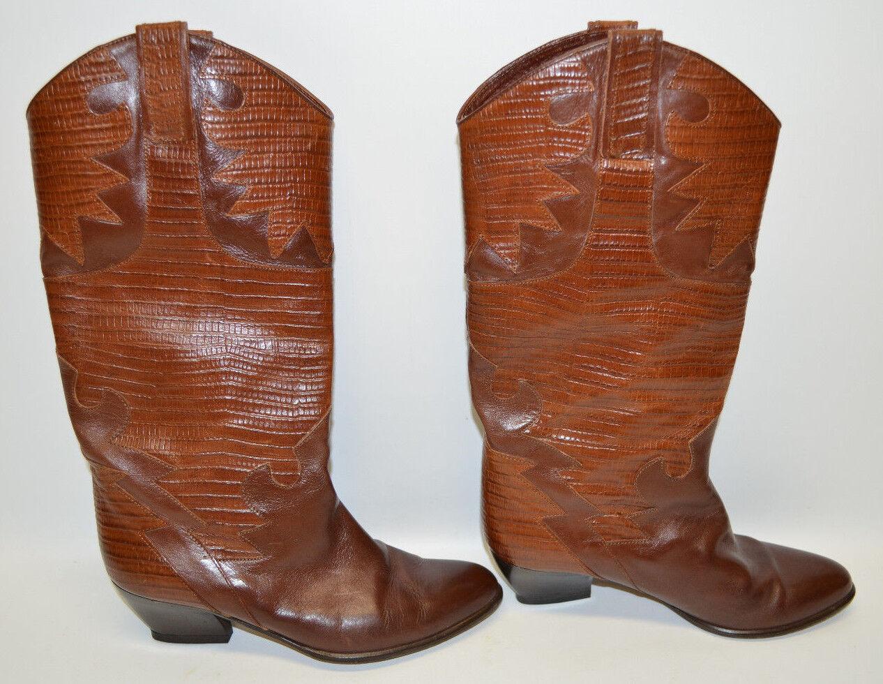 risparmia fino al 70% di sconto Sesto Meucci stivali Marrone Leather Patterned 2    Heel Pull Straps Donna  8.5 B  prezzi eccellenti