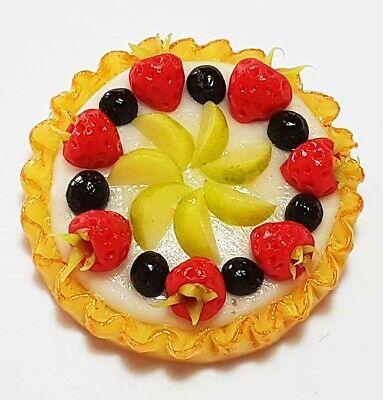 Dollhouse Miniature Orange Fruit Pie *Doll Mini Sweet Food Tart Flan Cake Bakery
