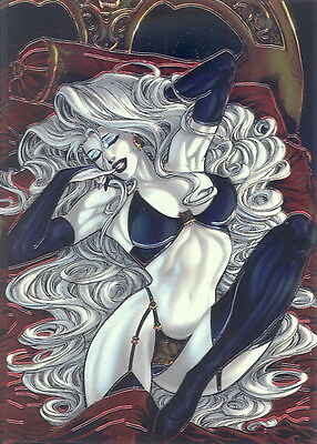 OLIVIA OBSESSIONS IN OMNICHROME 1997 COMIC IMAGES FOIL PROMO CARD NO NUMBER