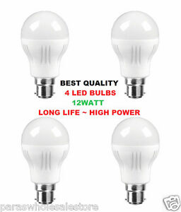 BRANDED SET OF 4 12W led bulb, WHITE, COOL, SAFE LIGHT, HIGH QUALITY LED BULB