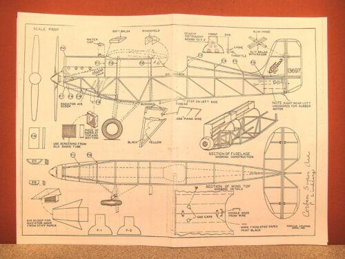 CORBEN SUPER ACE FLYING MODEL AIRPLANE PLAN 17