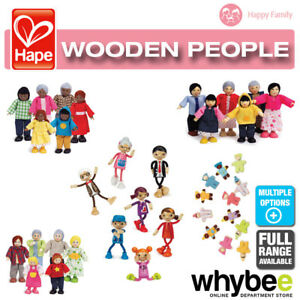 HAPE-Happy-Family-People-Full-Range-of-Wooden-Dolls-House-Families-Children-3yr