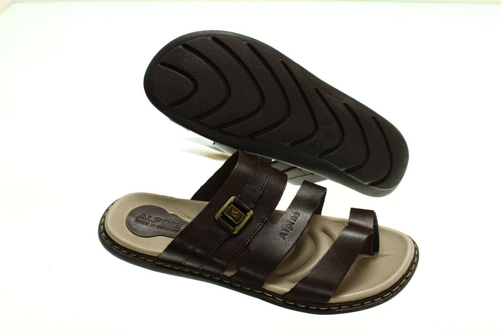 Nuevo Con Etiquetas-Alpine Design Para Hombre al aire libre marrón deslice sobre sandalias - 11 45