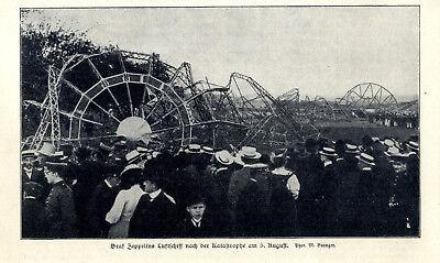 Transport Lovely Graf Zeppelins Ereignisreiche Fahrt Luftschiff Nach Der Katastrophe 5.8.1908