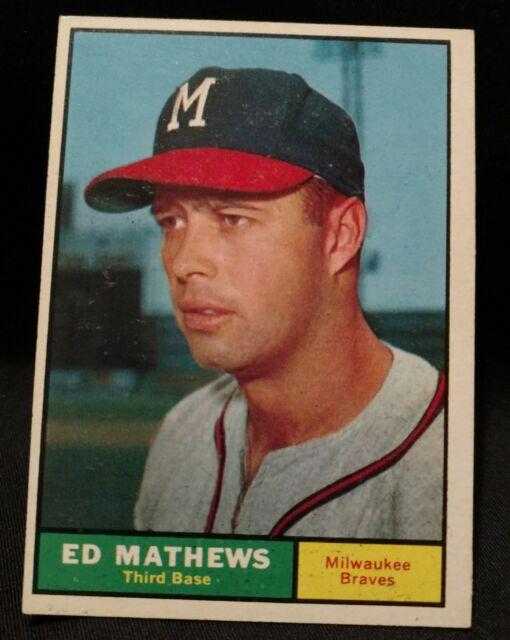 1961 Topps Eddie Mathews Milwaukee Braves 120 Baseball Card