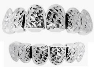 Hip Hop Birdman Silver Mouth Teeth Grills Grillz Set w Molds Diamond Cut