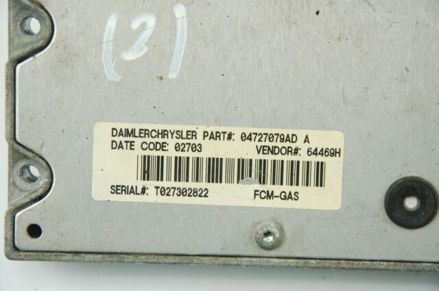 2005 2006 2007 Chrysler Voyager 2.8L TCU TCM Transmission Control Module 4727535