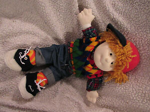 Brandon the doll / Sweetie Pie Kids / dress up toy / red greeen blue yellow