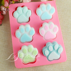 Dog Paw Soap Silicone Mold Ice Cube Candy Chocolate Mould