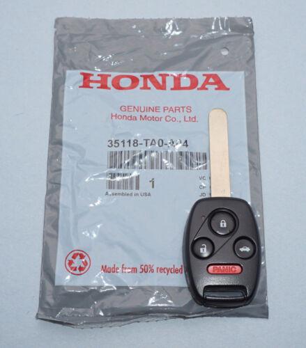 NEW OEM 08-12 HONDA ACCORD KEYLESS REMOTE HEAD FOB KR55WK49308 35118-TA0-A04