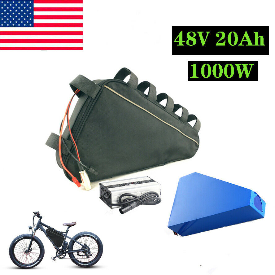 48V 20Ah Triangle Li-oin Ebike Battery Max1200W Motor for Electric Bicycle
