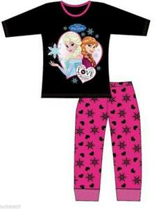 Filles-original-Disney-100-coton-jambe-longue-Frozen-pyjama-cauchemar-quatre
