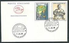 1986 ITALIA FDC CAVALLINO ARTE ITALIANA NO TIMBRO ARRIVO - CV1986-2