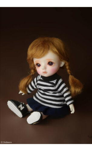Brown BJD  Wig Dollmore 5 inch Sayomi Mohair Wig