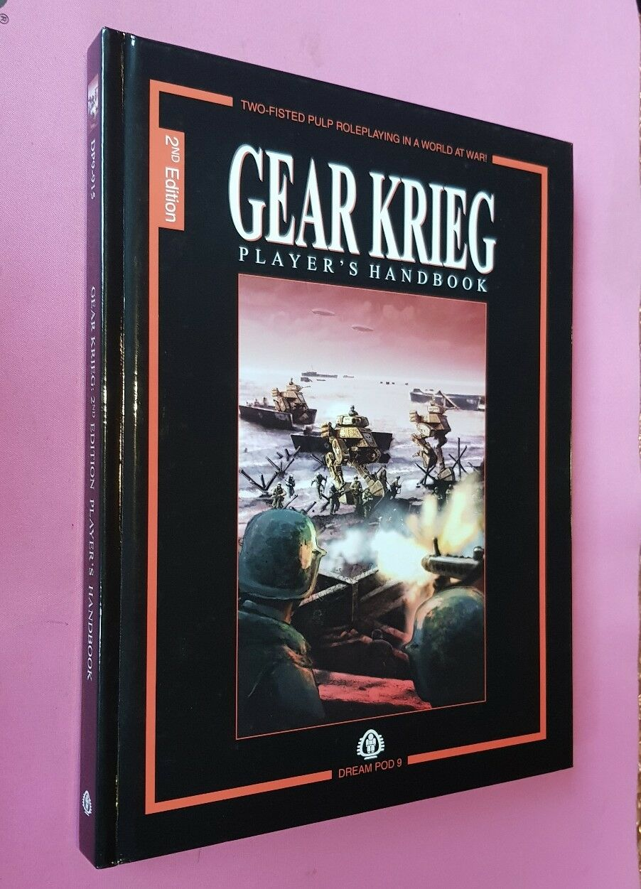 PLAYERS HANDBOOK 2ND ED GEAR KRIEG DREAM POD 9 DP9 RPG ROLEPLAYING OOP WEIRD WAR