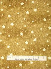 Christmas Fabric - Holiday Stars Gd Beige #25581 SPX Old World Christmas - YARD