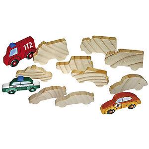 Holzfiguren Fahrzeuge 2 X 6 Holz Motive Zum Bemalen Spielen Kinder