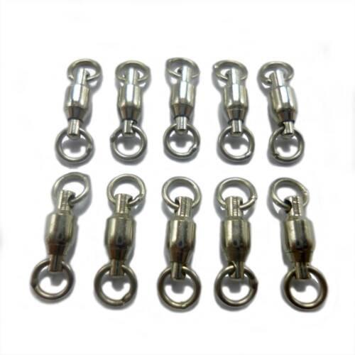 Nickel Finish Pack of 4 75lb test Sampo Bead Chain Swivel
