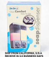 Abs Wall Mounted Sanitizer, Shampoo, Or Soap Dispenser For Shower, Kitchen