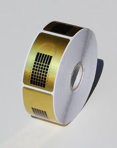 Selbstklebende Schablonen in Gold für Gel und Acryl  Fingernagel Verlängerung