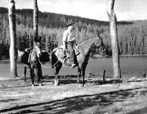 Ranger Station Oregon Vintage Photograph Reprint Santiam Forest