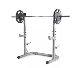 weider xrs 20 squat rack weight lifting leg press exercise