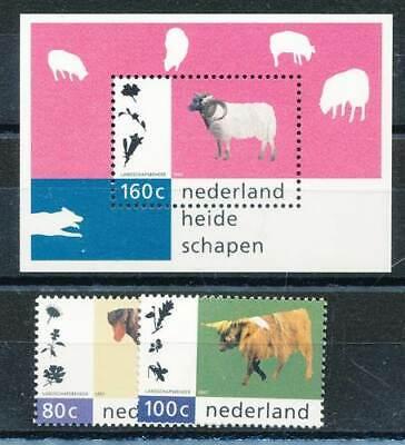 Niederlande Nr.1608-9+block 51** Nutztiere Noch Nicht VulgäR 100% QualitäT 288028 Niederlande & Kolonien