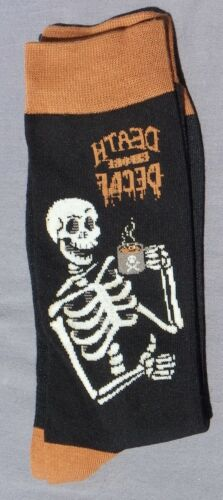 Paire Chaussettes homme femme 39 40 42 43 FANTAISIE squelette mort cafè thè NEW