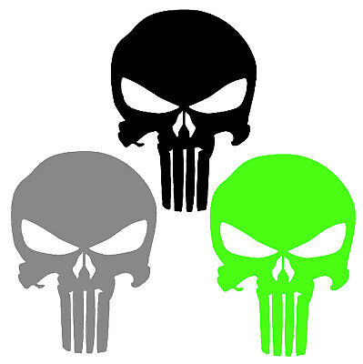 Punisher Decal Chrome Vinyl Inline Skull Eyes Sticker
