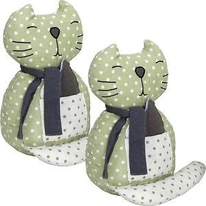 2x-Gilde-Tuerstopper-aus-Stoff-schwer-ca-30cm-Tuerpuffer-Katze-Stofftier
