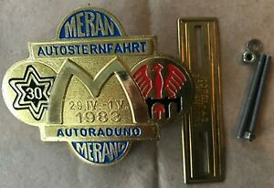 Badge-Automobile-German-Rally-54-1983-Meran-Autosternfahrt-Autoraduno-Rallye