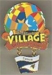 ex-RARE-LE-25-Disney-pin-Epcot-Millennium-Village-Cast-Member-Samoa-Balloon-Flag