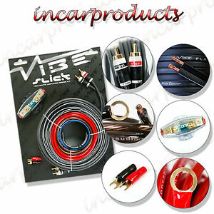 vibe 8 awg gauage slick vsawk8 v1 1500w amp amplifier wiring kit rh cacosstore top Car Audio Wiring Kits vibe 8 gauge wiring kit