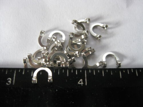 #6 FOLDED CLEVIS NICKEL plated /</< 50 />/>made in the USA
