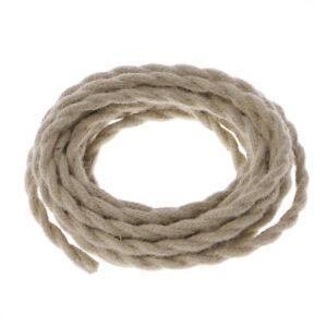 5 M 2x0.75 Vintage Rope Twisted Electric Wire Retro Hemp Braided ...