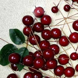 Artificial-Red-Holly-Berries-Garland-Christmas-Tree-Decor-Ornament-Xmas-Hot-x100