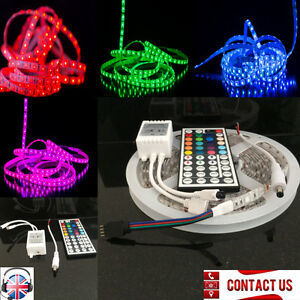 5m multi colour led strips light kit with 44key for 12v awning image is loading 5m multi colour led strips light kit with mozeypictures Images