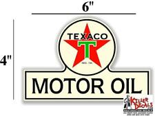 "8/"" PRE WAR TEXACO GASOLINE GAS PUMP SIGN TANK DECAL TEXA-8"