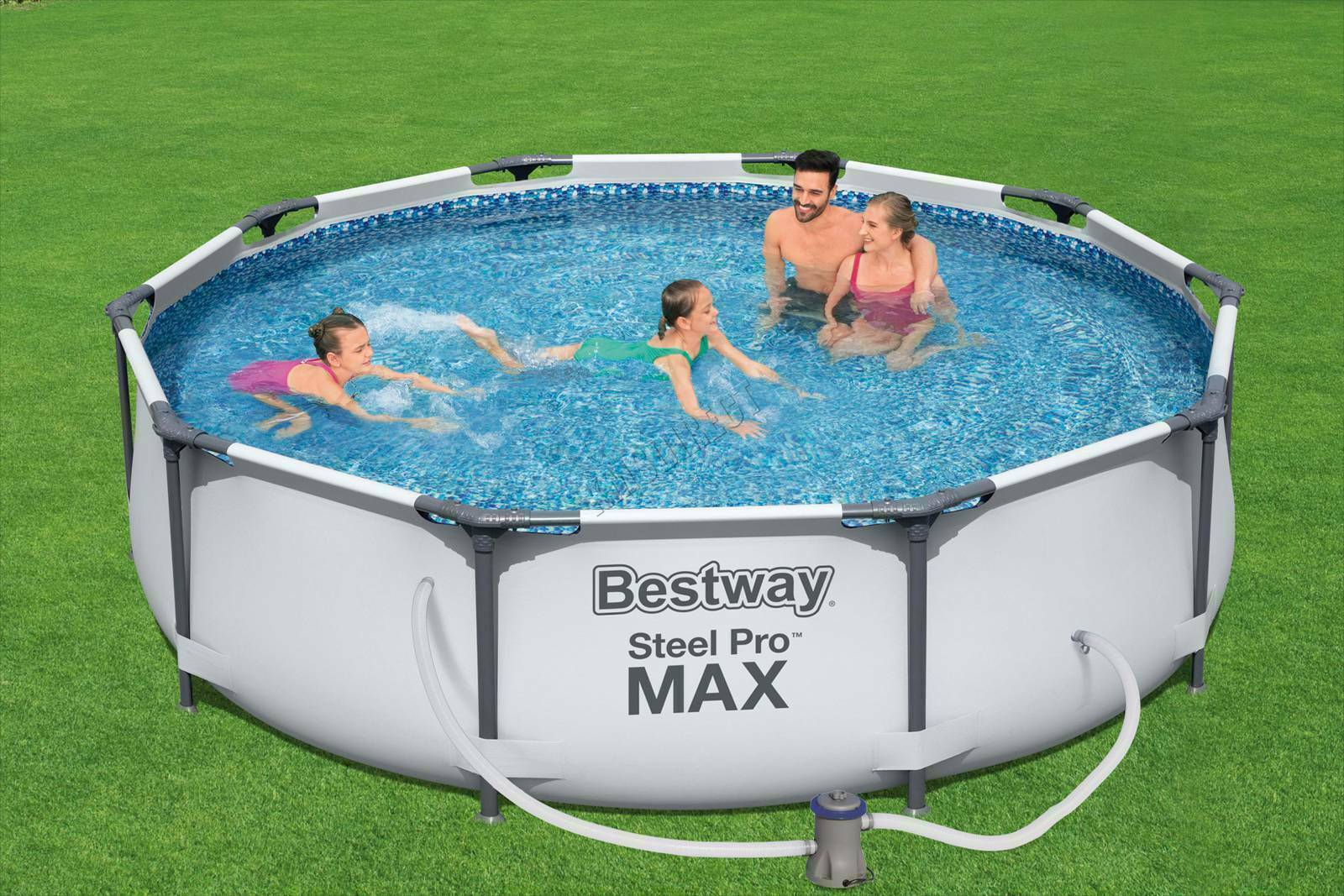 Bestway 10ft Steel Pro Max Above Ground Swimming Pool ✅ Filter Pump✅Fast Postage
