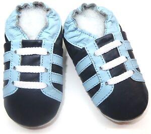 Suave Suela Cuero Niño Zapatos Minishoezoo Botas Azul Marino Cielo 5-6 Y Active
